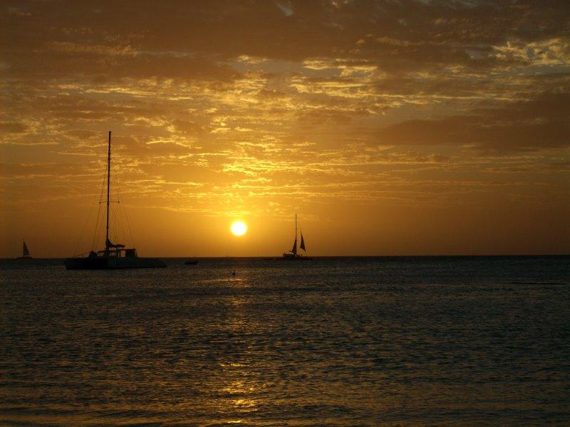Coucher de soleil à Aruba